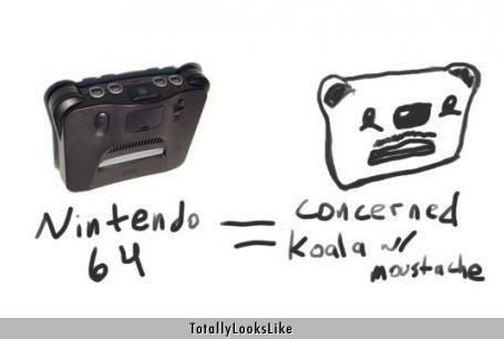 Nintendo 64 Totally Looks Like Concerned Koala With Mustache