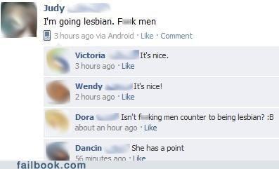 lesbians,sex,men,relationships,dating,failbook