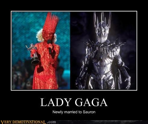 costume,hilarious,lady gaga,Lord of the Rings,sauron