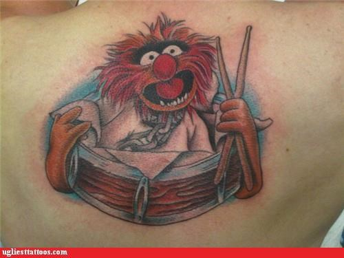 muppets,tattoos,animal,drums,funny,win