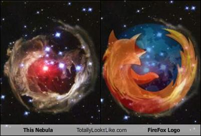 This Nebula Totally Looks Like Firefox Logo