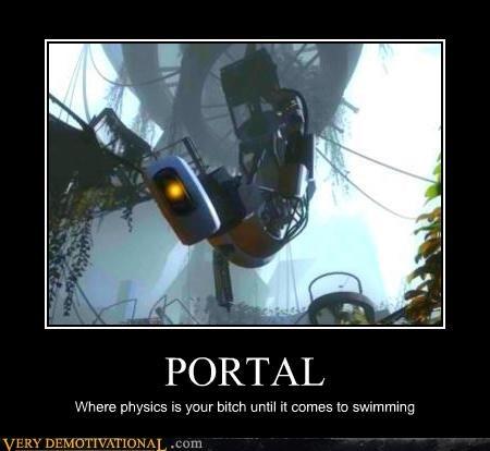 hilarious,physics,Portal,swimming,video games