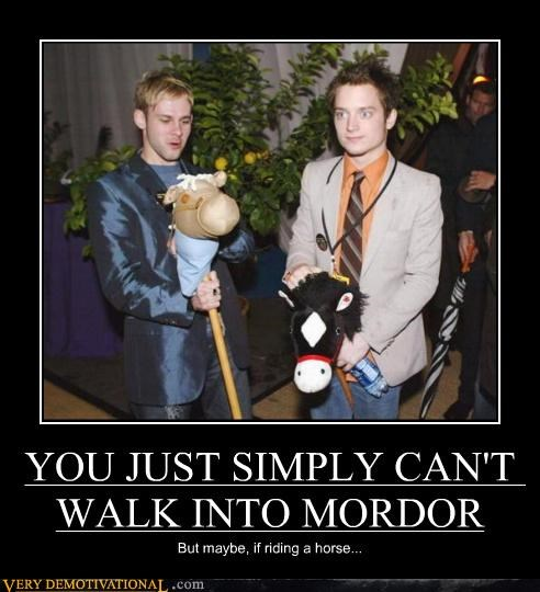 YOU JUST SIMPLY CAN'T WALK INTO MORDOR
