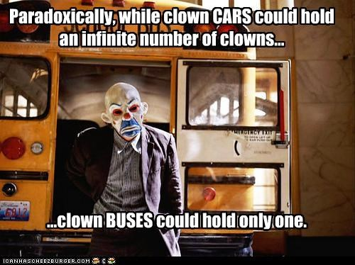 Paradoxically, while clown CARS could hold an infinite number of clowns...