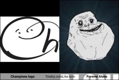Champions Logo Totally Looks Like Forever Alone