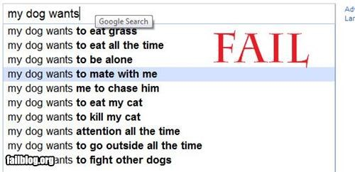 Auto Complete Me: My Dog Wants...