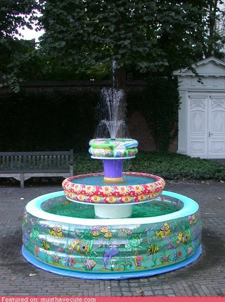 fountain,inflatable,kiddie pools,water,yard