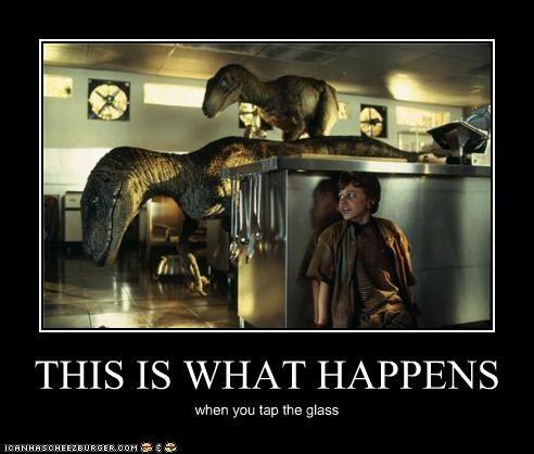demotivational,dinosaurs,funny,jurassic park,Movie,velociraptor