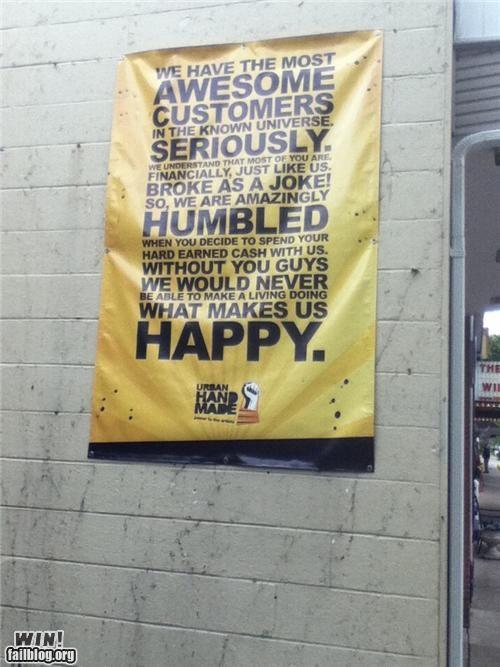 Customer Appreciation WIN