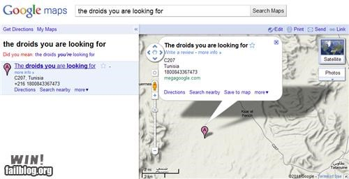 clever,droids,google,google maps,location,star wars