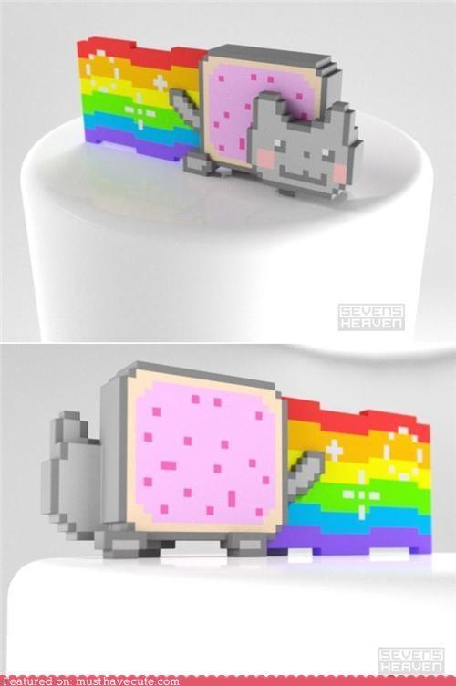 art,Nyan Cat,pop tart,rainbow,sculpture
