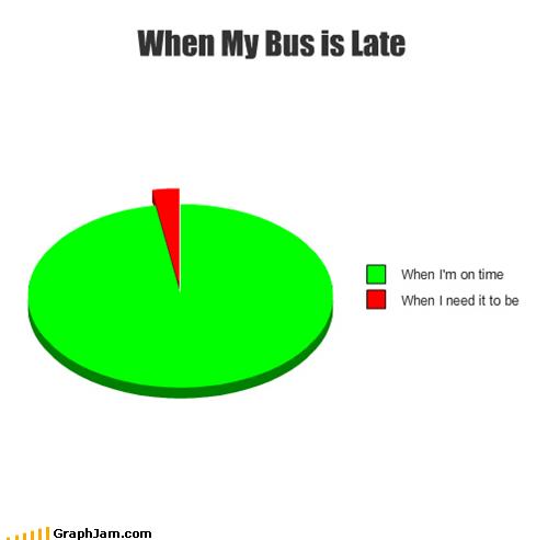 bus,late,Pie Chart,public transportation