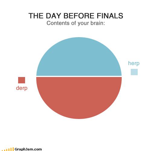 brain,derp,finals,herp,Pie Chart,school