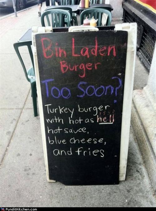 burger,Osama Bin Laden,political pictures