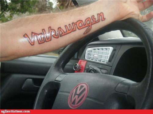 volkswagen,logos,tattoos,funny
