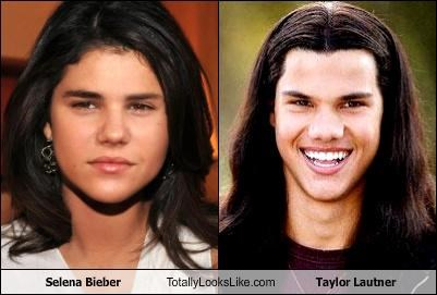 actors,justin bieber,scary,Selena Bieber,Selena Gomez,singers,taylor lautner