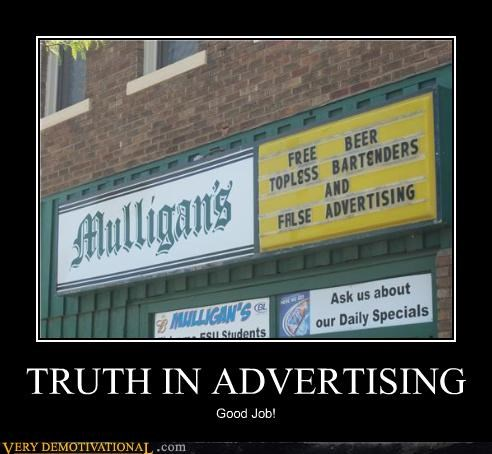 bar,good job,hilarious,truth in advertising