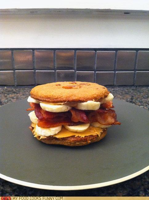 bacon,banana,cookies,Elvis,peanut butter,sandwich
