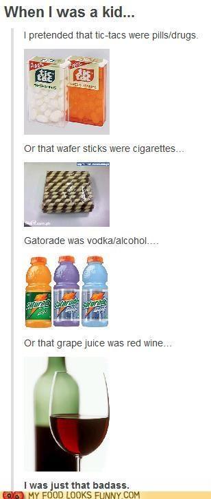 alcohol,chocolate,cigarettes,gatorade,kids,tic tacs,wtf