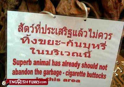 animals,garbage,sign,warning