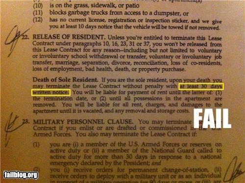 Notice of Death FAIL