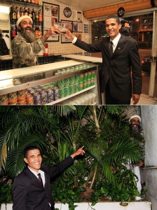 Adorable Doppelgängers,brazil,Osama Bin Laden,potus