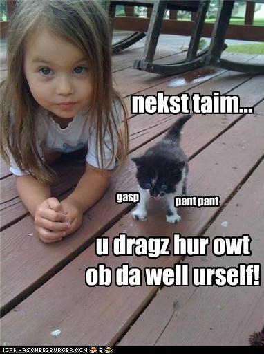 Reskyoo kitteh iz waipd!