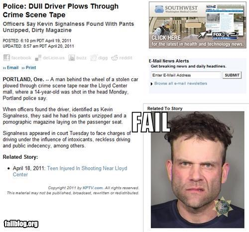 Probably Bad News: DUI FAIL