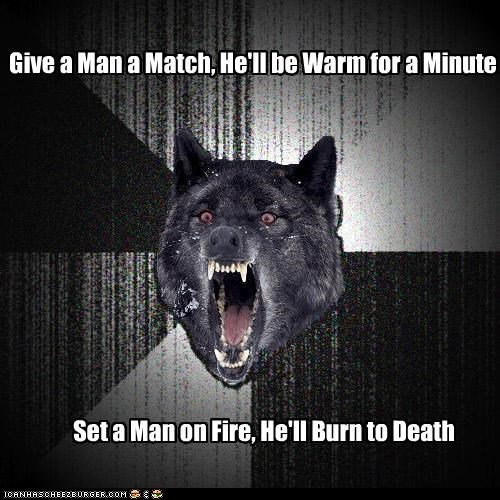 burn,Death,fire,Insanity Wolf,match