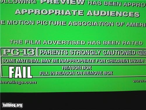 failboat,film,g rated,laziness,movies,MPAA,professional,rating