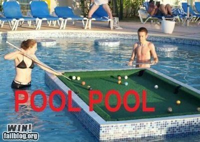 Playing Pool While Playing in a Pool WIN