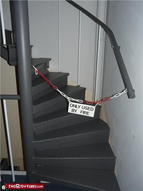 euro Engrish,sign,stairs,warning