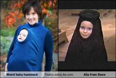 "Weird Baby Hammock Totally Looks Like Alia from ""Dune"""