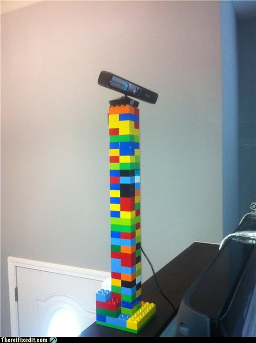 dual use,holdint it up,kinect,legos,xbox