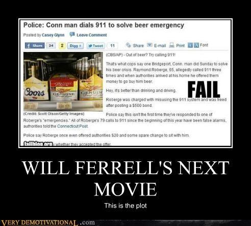 beer emergency,hilarious,news,Will Ferrell