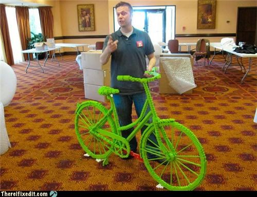 art,bicycle,bike,clever,creative,lego,not a kludge