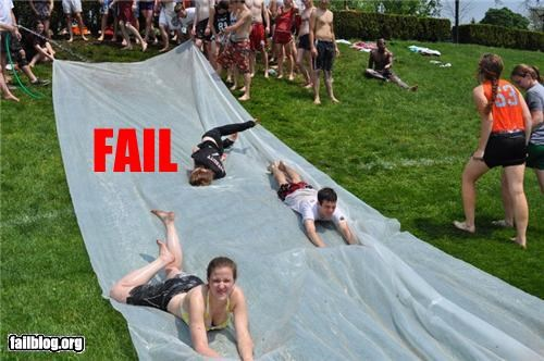 Slip 'n Slide FAIL