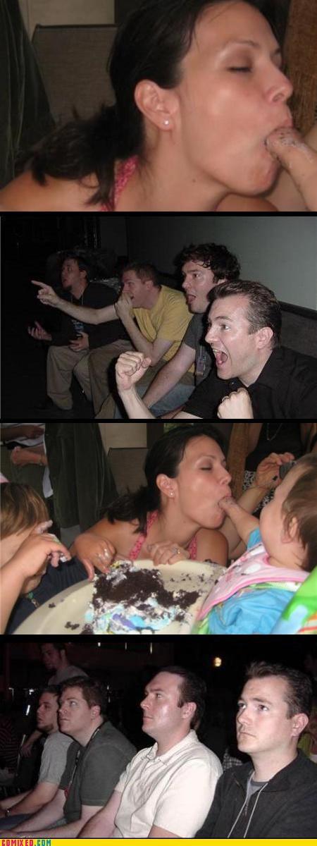 babys-arm,eww,man sausage,mom,reaction guys,Tenso