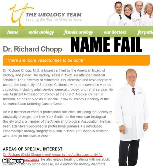 Urologist Name FAIL