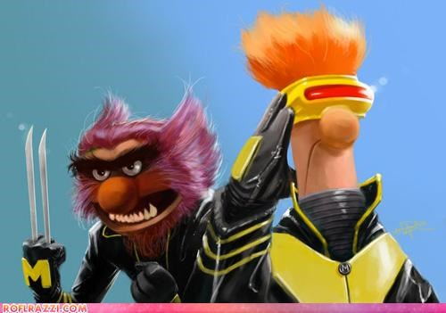 art,cool,fan art,funny,muppets,x men