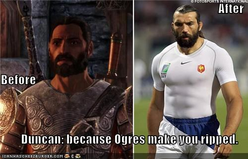 After Before Duncan: because Ogres make you ripped.