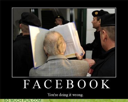 book,doing it wrong,face,facebook,literalism,question,twitter
