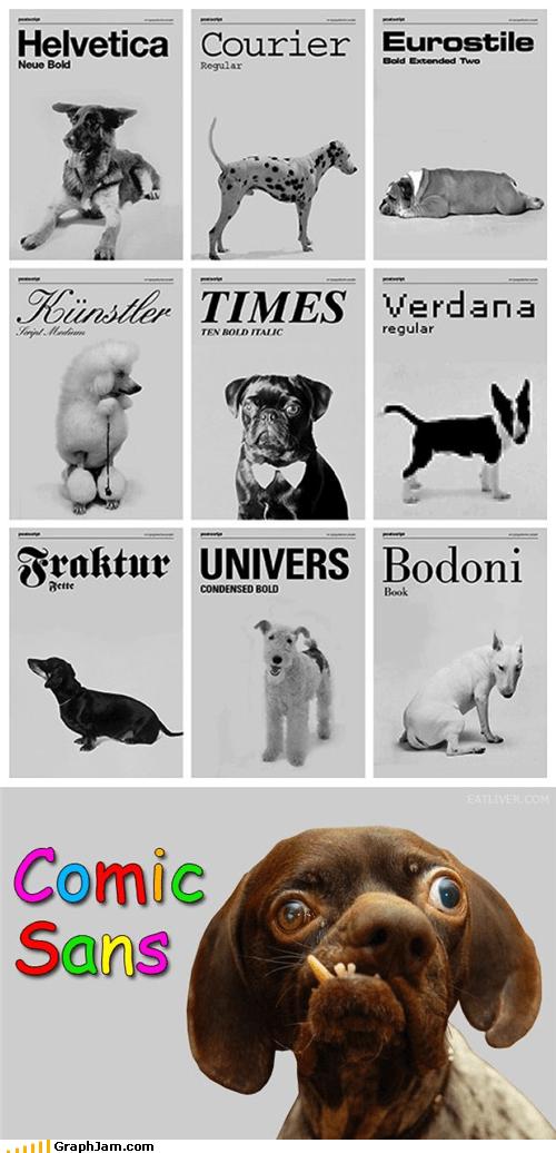 comic sans,critters,dogs,fonts