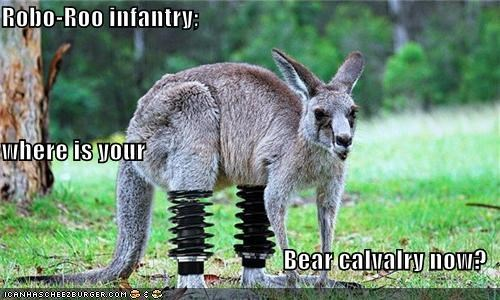 Robo-Roo infantry; where is your  Bear calvalry now?