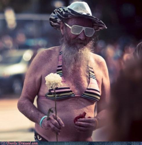 bikini,hat,shutter shades
