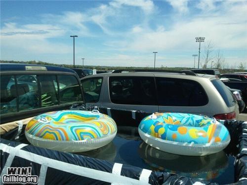 dangerous,dual use,innertube,kids,pool,summer,trucks