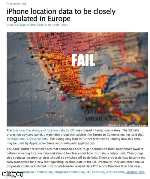 Probably Bad News: Geography FAIL