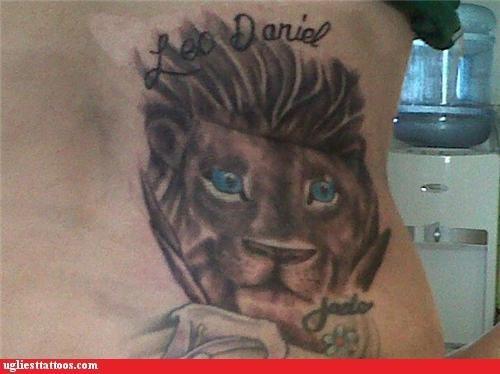 lions,wtf,tattoos,funny
