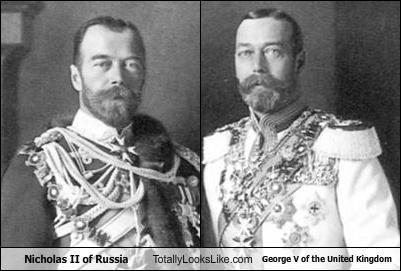 Nicholas II of Russia Totally Looks Like George V of the United Kingdom