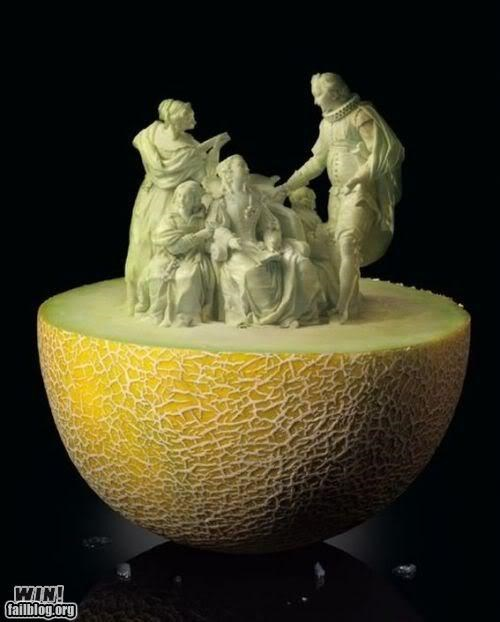 awesome,carving,melon,skills,statues